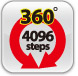 360 degree 4096 Steps